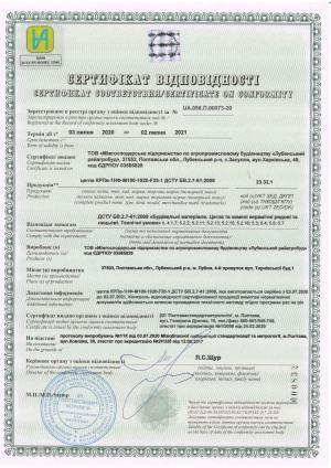 Кирпич м100 Сертификат